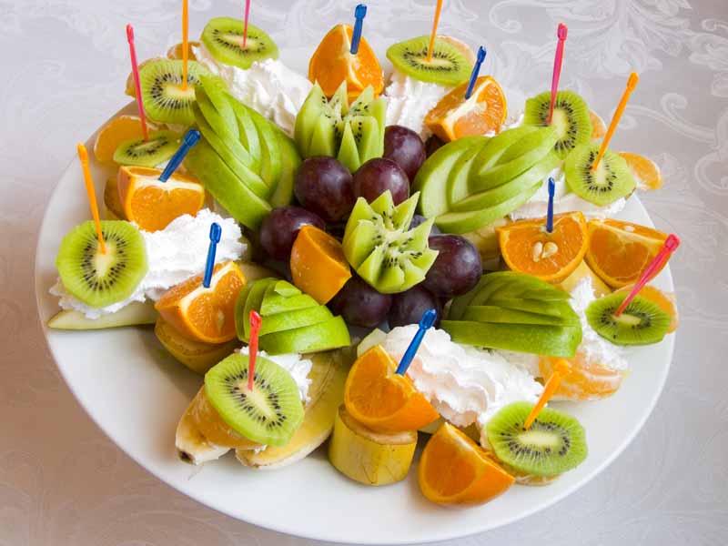 Нарезка из фруктов своими руками фото